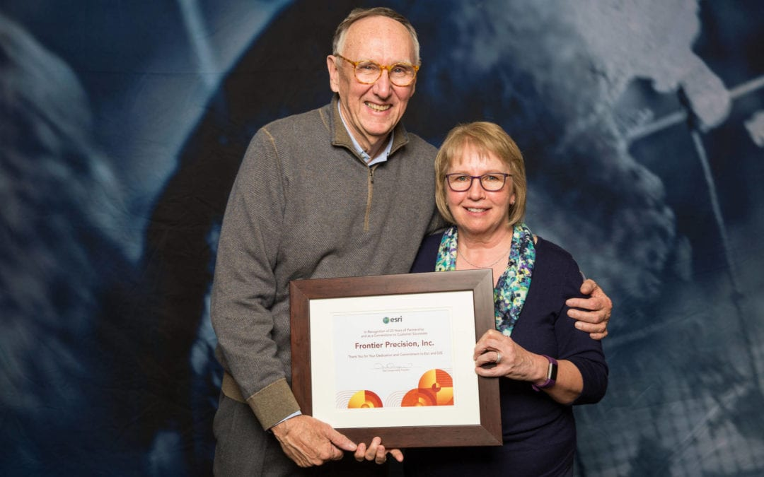 Frontier Precision Inc. receives Esri's Cornerstone Partner award