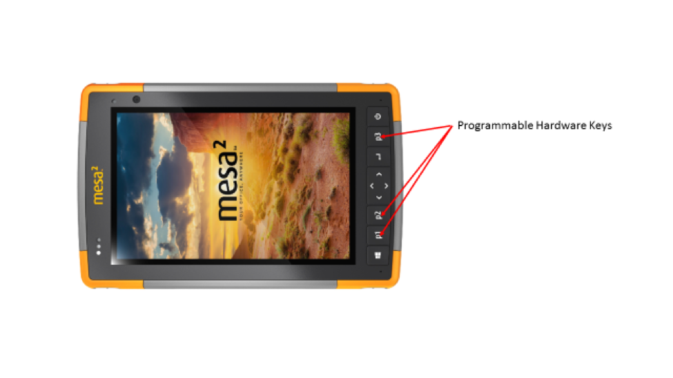 Programmable Hardware Keys on the Mesa 2 Rugged Tablet