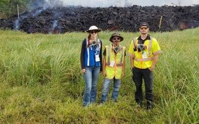 Frontier Precision Helps Map Kilauea Lava Flow